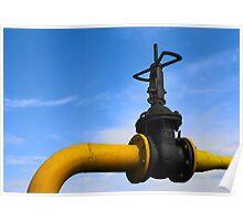 Pipeline valve on the tube Poster
