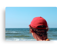 A woman in a red cap Canvas Print