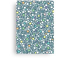 pastel puzzle bubble (blue) Canvas Print