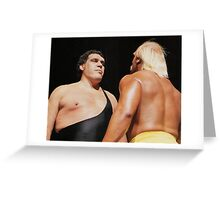 Andre and Hulk Greeting Card