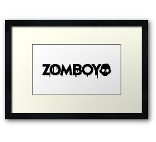NEW Zomboy logo - Black Framed Print