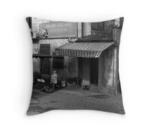 Shop Front, Saigon, Vietnam Throw Pillow