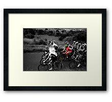 London Surrey Classic climbs Box Hill Framed Print