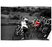 London Surrey Classic climbs Box Hill Poster