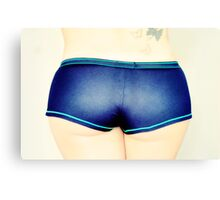 Pinup of Woman's Butt. Canvas Print