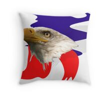 The Eagle is Watching Throw Pillow