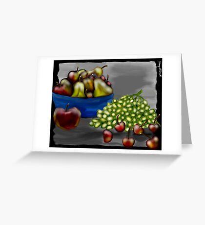Fruit in B&W Greeting Card