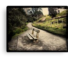 Base track, Mt Mauao. Tauranga, New Zealand. Canvas Print
