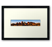 Devil's Marbles Panorama Framed Print