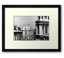 Looking Down on Lombard St in the 1940s Framed Print