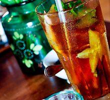 Iced Tea, Biku Teahouse, Seminyak, Bali by Georgina James