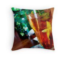 Iced Tea, Biku Teahouse, Seminyak, Bali Throw Pillow