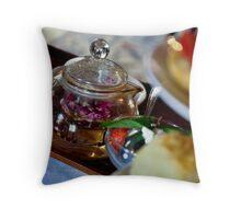 Glass Teapot, Biku Teahouse, Seminyak, Bali Throw Pillow