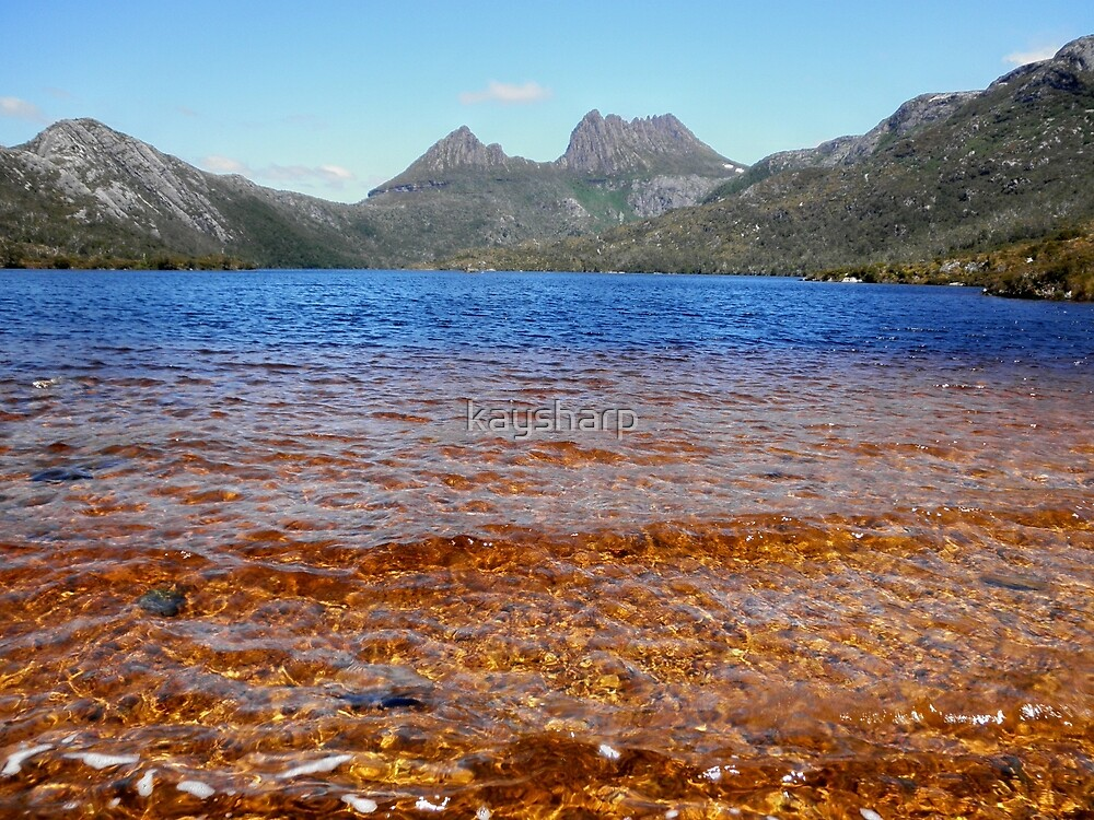 Blue and Gold, Dove Lake, Cradle Mountain, Tasmania, Australia. by kaysharp