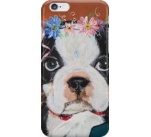 Puppy with Flowers iPhone Case/Skin