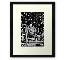Life in a Machine Cubicle Framed Print