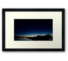 Small Town Sunset Framed Print