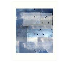 Abstract Composition With Clouds and Birds – September 8, 2011 Art Print