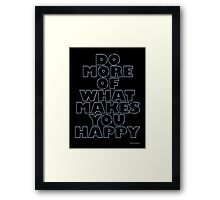 DO MORE Framed Print