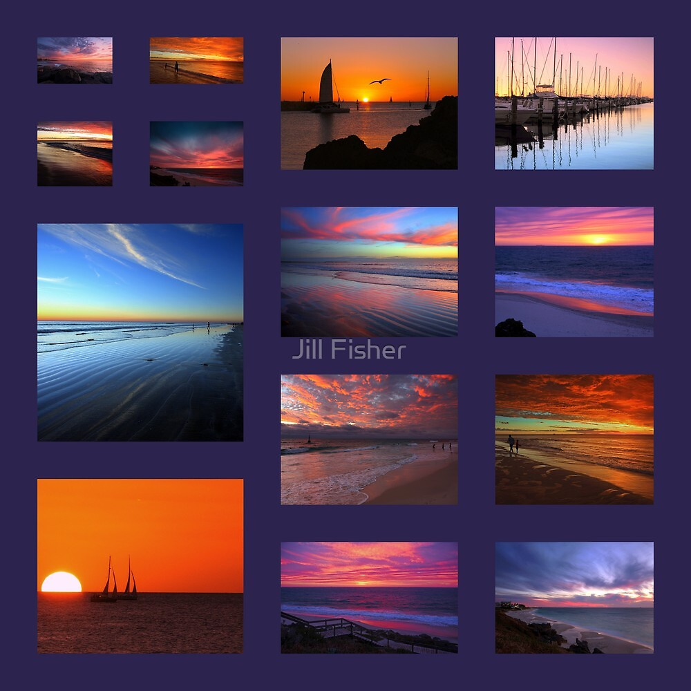 Indian Ocean Sunsets by Jill Fisher
