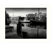 Boat Docks In Germany Art Print