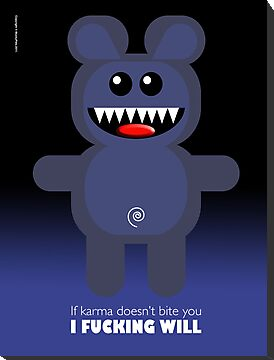 BEAR KARMA by peter chebatte