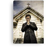 Baltar Repents [Preacher] James Callis Canvas Print