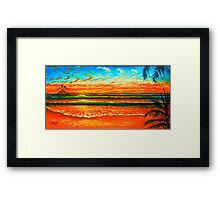Kailua Beach Sunrise Framed Print