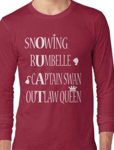 OUAT Ships (White Text) Long Sleeve T-Shirt