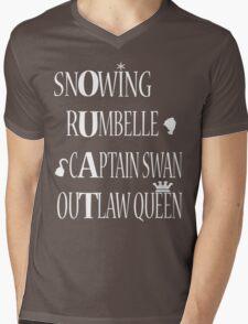 OUAT Ships (White Text) Mens V-Neck T-Shirt