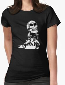 BigHeadSkullKid Womens Fitted T-Shirt