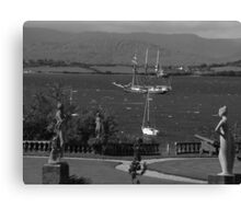 bantry bay in,blustery black and white Canvas Print