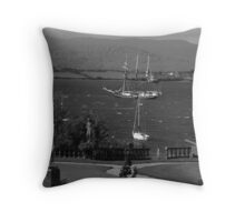 bantry bay in,blustery black and white Throw Pillow