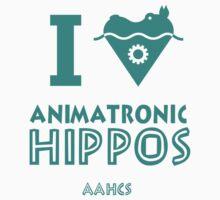 I Heart Animatronic Hippos (AAHCS) Kids Clothes