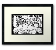 Jobs Great! Less Taxing! Framed Print