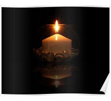 reflection candle Poster