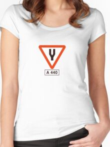 Tuning Fork - Music Tee Women's Fitted Scoop T-Shirt