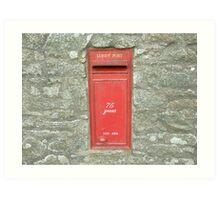 Lundy Airmail Art Print