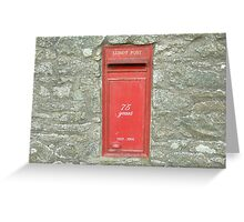Lundy Airmail Greeting Card
