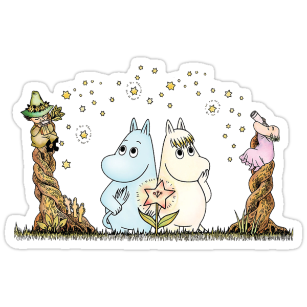 Moomin & Snorkmaiden Under The Stars by MissCake
