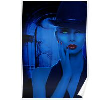 Portrait in Blue Poster