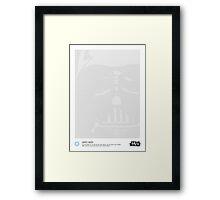 Halftone Vader Framed Print