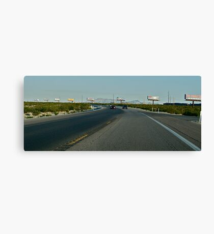 Freeway Reading Canvas Print