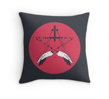 Idle hands are the devil's playthings Throw Pillow