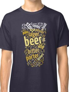 Beer Glass Word Cloud Classic T-Shirt