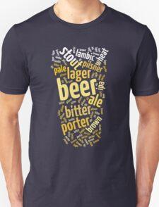 Beer Glass Word Cloud T-Shirt