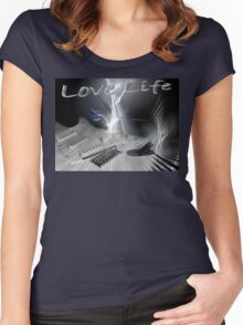 LOVE LIFE! Women's Fitted Scoop T-Shirt
