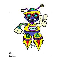 Too Cute Robot Peace Photographic Print