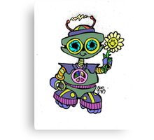 Too Cute Robot Flower Canvas Print