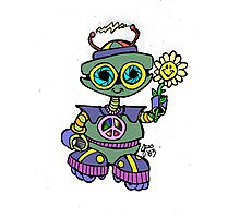 Too Cute Robot Flower Photographic Print